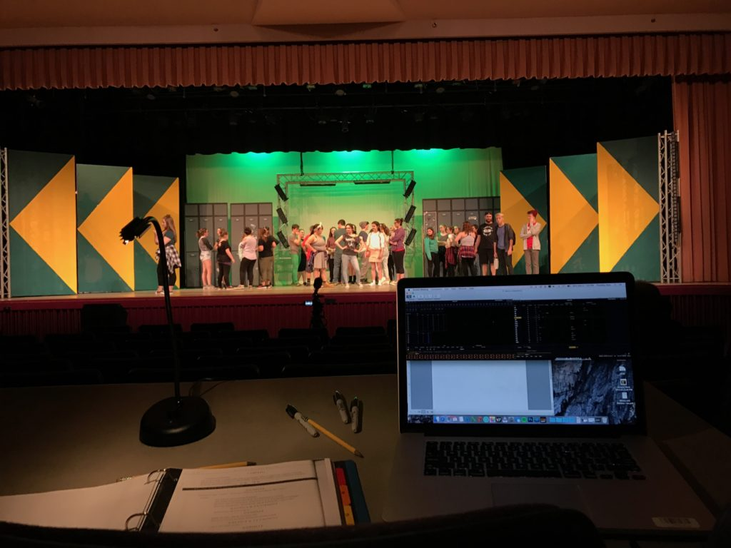 "Lighting Design and Sound Support for Monadnock Regional High School's Production of ""Bring It On"""
