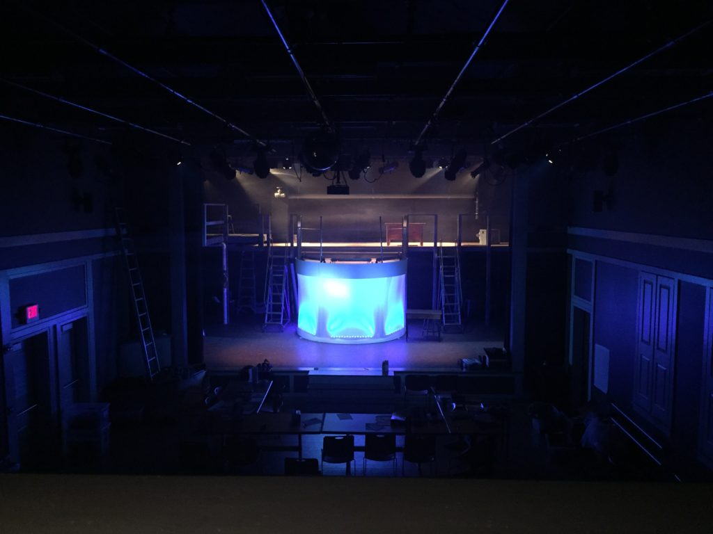 "Lighting Design for Dublin School's Production of ""Urinetown"""