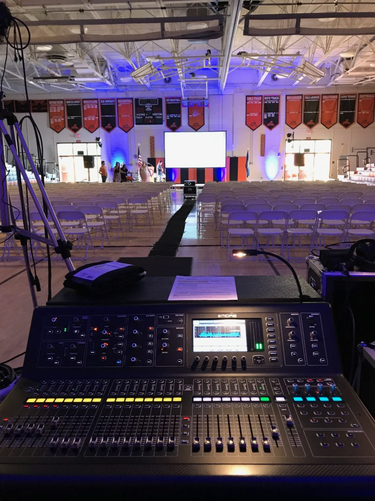 Sound, Video and Lighting for Keene High Yearbook Event